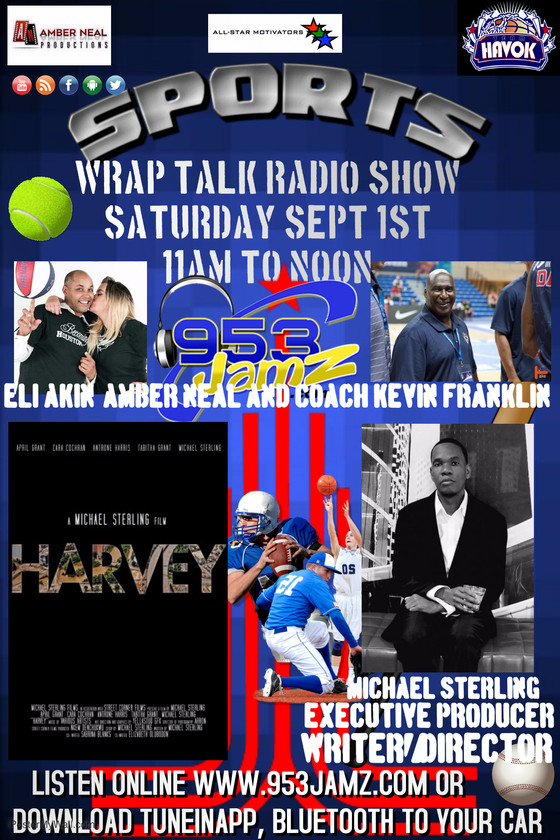 """""""Harvey"""" Writer/Director/Executive Producer Michael Sterling stops by this Saturday to vis"""