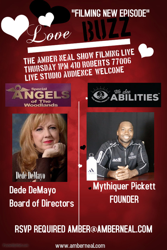 The Amber Neal Show is filming THIS Thursday with special guest Dede DeMayo and Mythiquer Pickett do