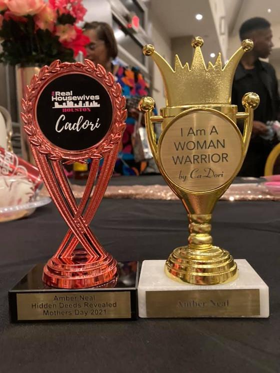 DOUBLE HONORED!!! Thank you RHWOH & Cadori for these honors!!! #humanitarainaward #womanwarrioraward