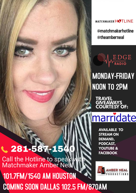 Beginning March 23rd catch me on the @matchmakerhotline Monday-Fruday 12-2pm! Call in with your rela