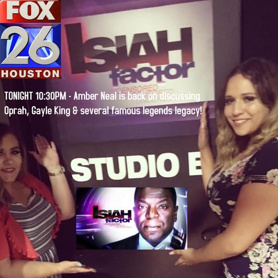 Im back on Fox 26 Houston tonight with my Fav Journalist #IsiahCarey on the #IsiahFactorUncensored 1