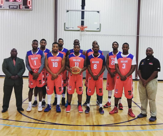 2018 Havok Basketball Team Picture with Owner/GM/Head #CoachKevinFranklin and Asst Coach Jones
