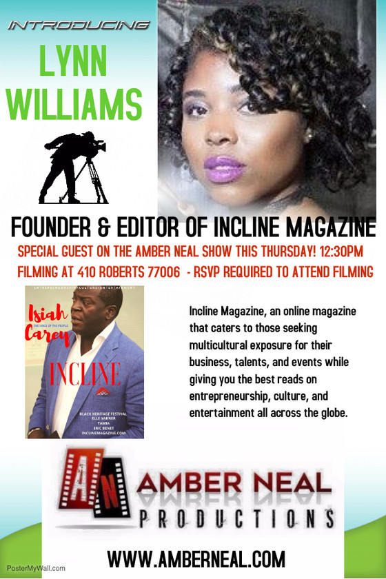 The Amber Neal Show goes 1 on 1 with the amazing, talented, beautiful soul Lynn Williams who is the