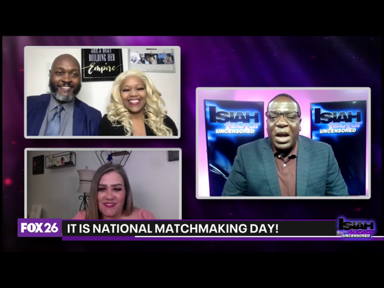 National Matchmaking Day appearance on Fox 26 with #IsiahCarey