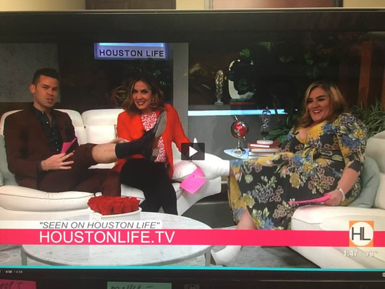 Amber Neal back on Houston Life Talk Show on KPRC CH 2 dishing advice for NEW Couples for Valentines