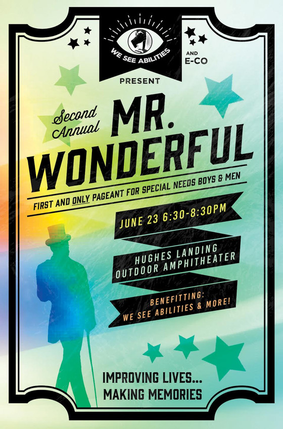 Join www.weseeabilities.com for the 2nd Annual Mr Wonderful Pageant for special needs kids, teens an