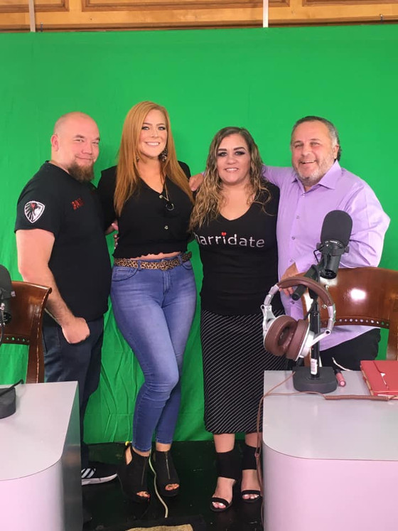 Great day filming Edge Radio TV on the Matchmaker Hotline with my co-host Eric and guests Jackie &am