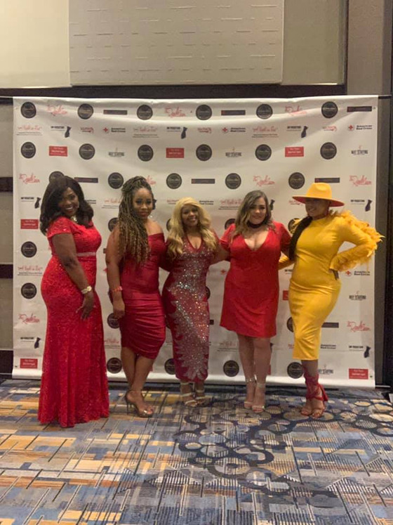 A NIGHT IN RED -  CAST OF BOSS UP HOUSTON TALK SHOW AT THE 2021 SME AWARDS!