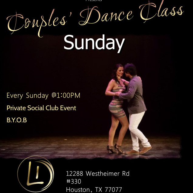 Couples Dance Class ( learn new dances weekly)