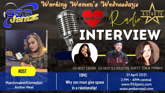 Wednesday 4/21 with TV Producer Tonja Renae Thomas!