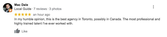 YCAA Toronto Actors Representation