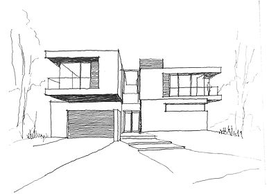 DLSS Architects_sketch of new build initial concept 1