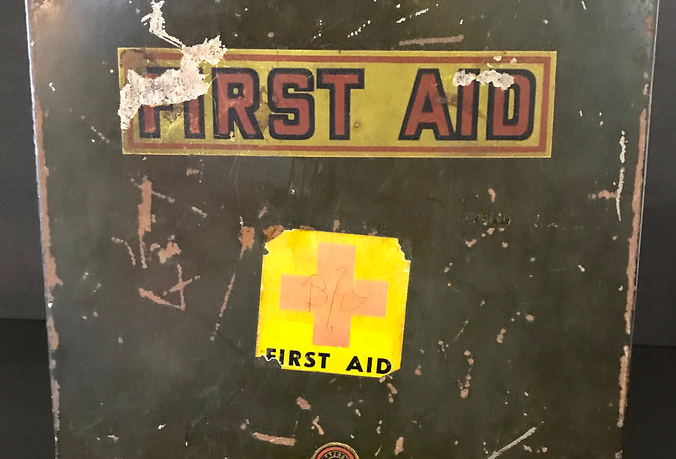 Vintage First Aid Metal Kit