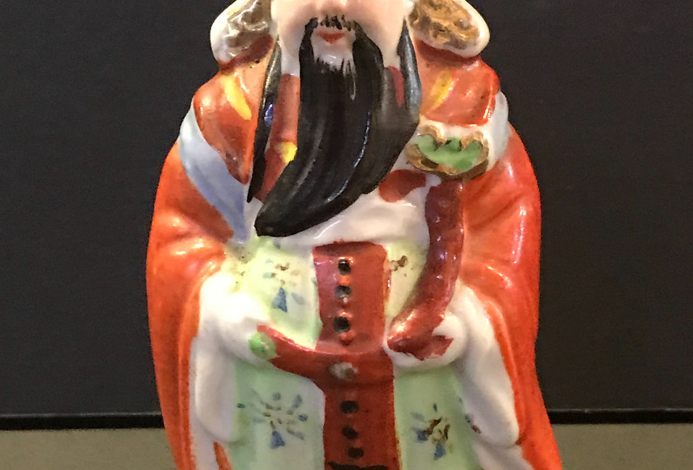 Vintage chinese ceramic Lu God