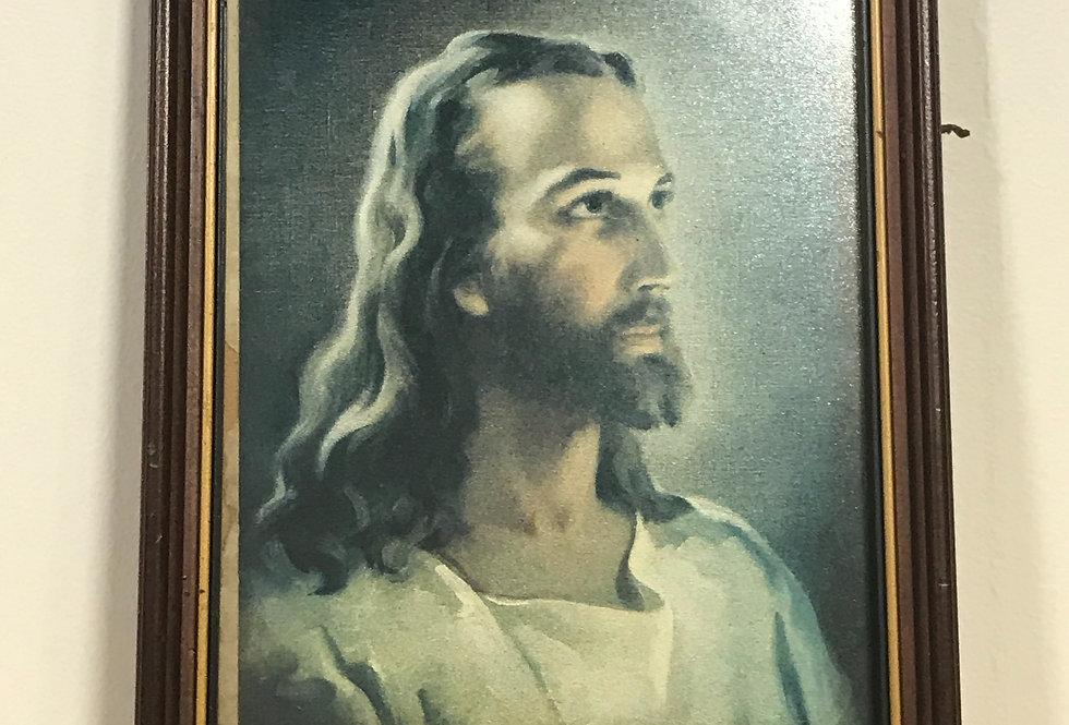 Vintage Jesus Framed Picture