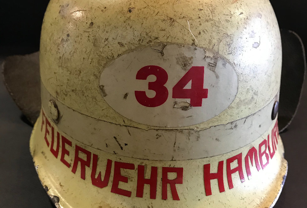 Vintage German Fireman's Helmet circa 1970s