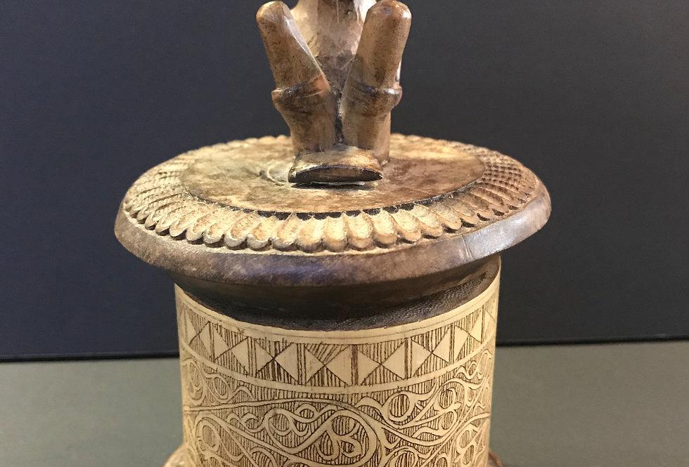 Vintage HandCarved Trinket Box