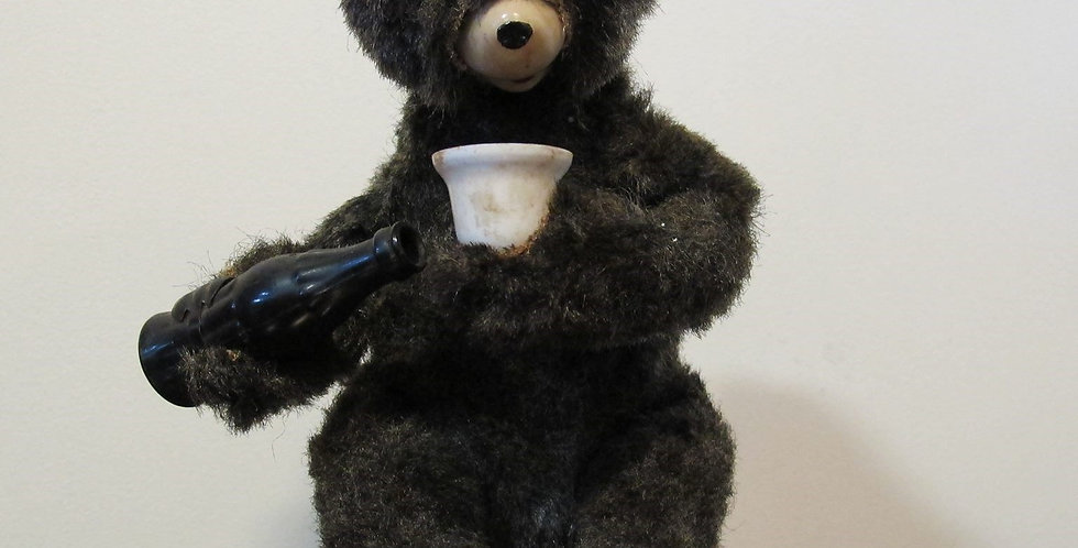 Vintage battery operated drinking bear Toy 1950's