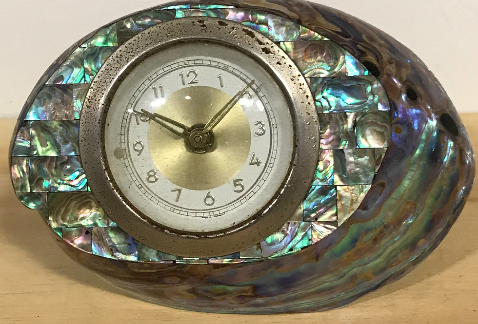 Retro Paua Clock