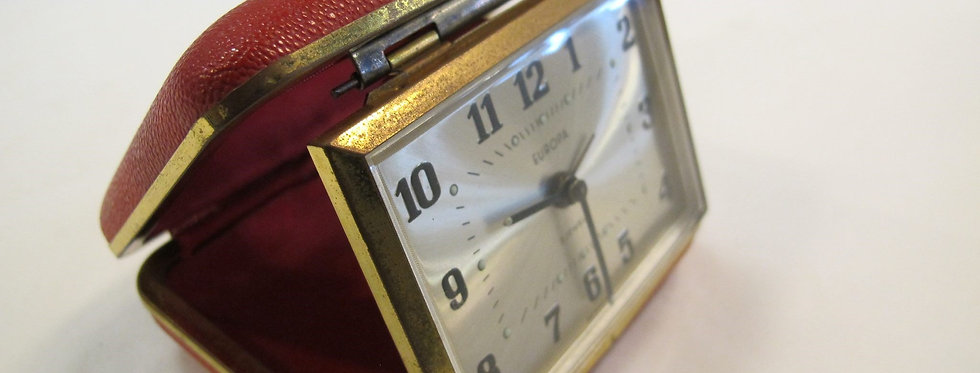Vintage Europa Travel Clock-2Jewels