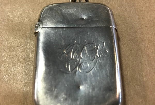 Antique Sterling Silver VestaCase