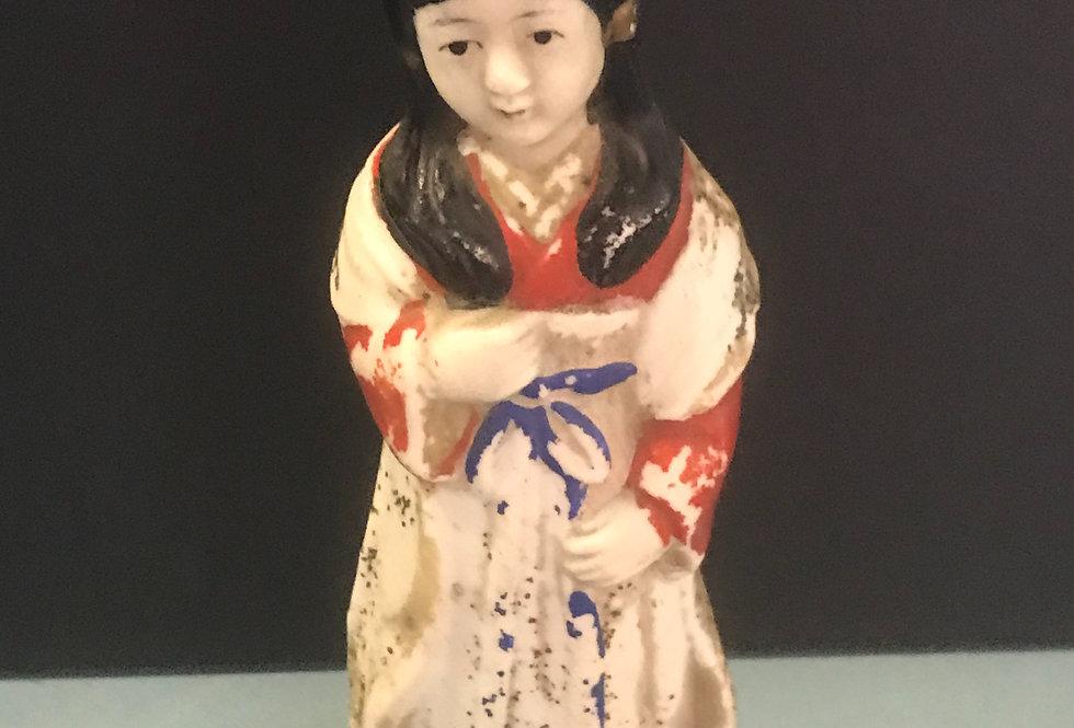 Vintage Chinese Plaster Figurine