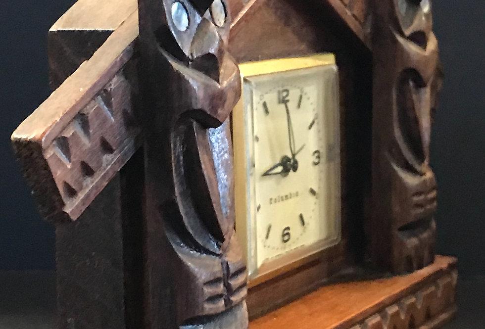 Vintage Kauri Maori Clock