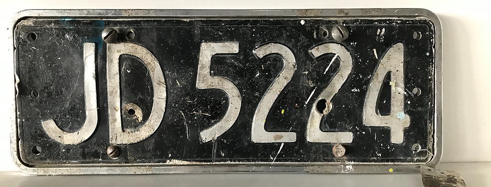 Vintage NZ Numberplate