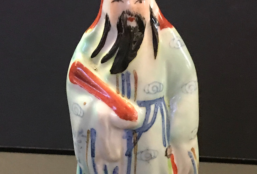 Vintage chinese ceramic Fu God