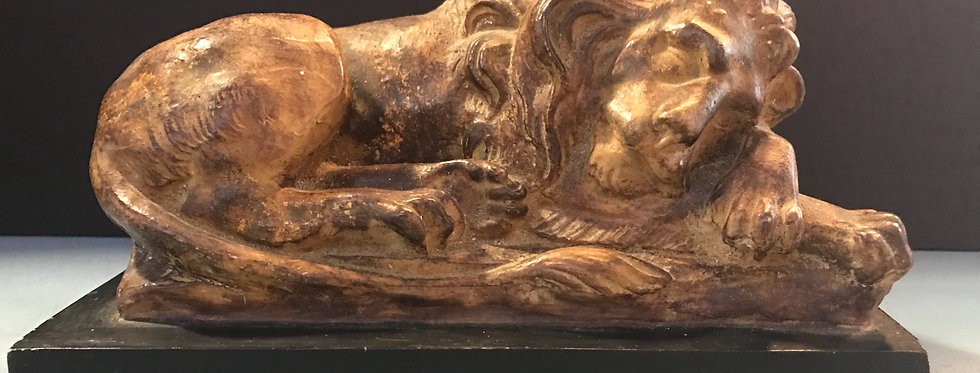 Sleeping Lion Sculpture