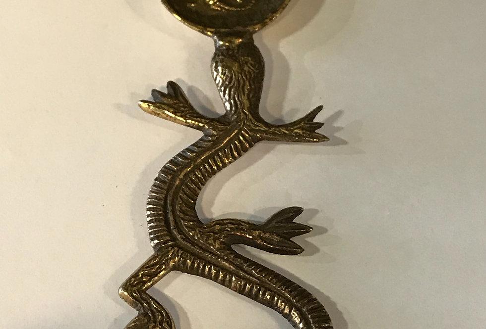 Vintage Gecko Brass Spoon