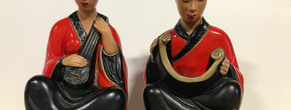 Mid century Chinese Figurines