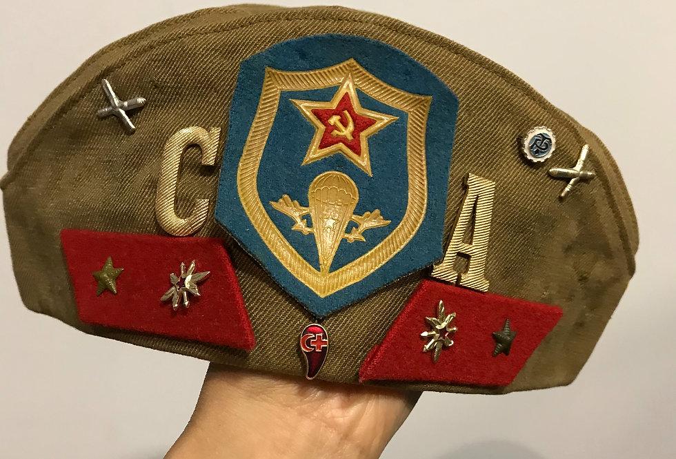 Vintage USSR Pilotka Garrison Cap