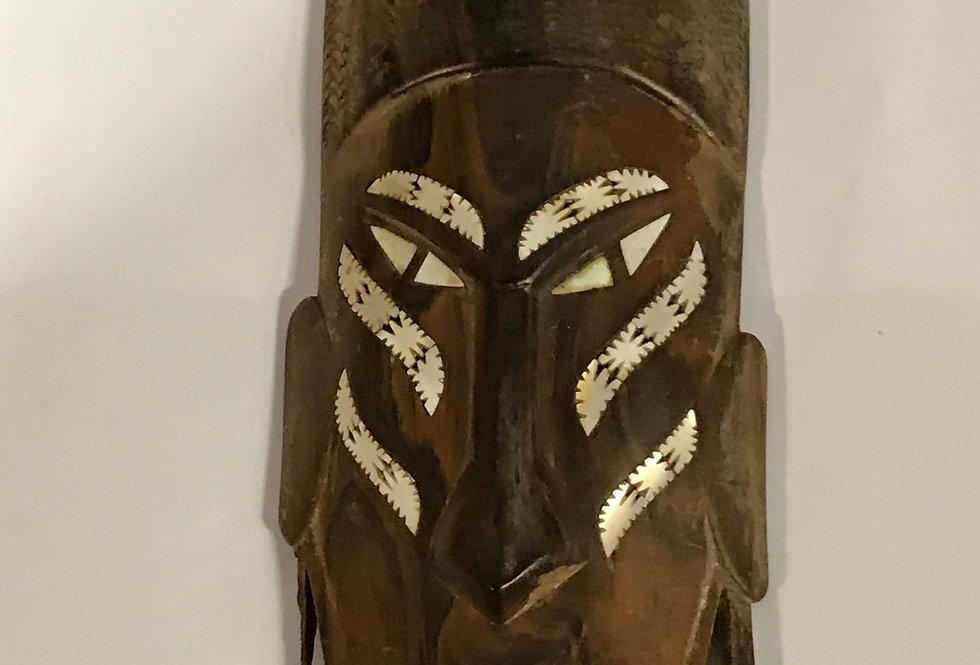 Vintage Wooden Face