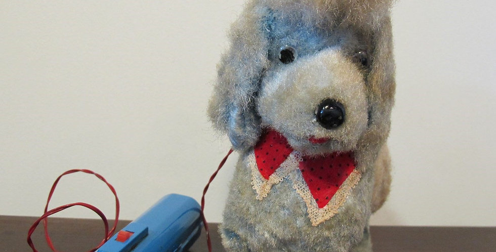 Vintage Cute Poodle Battery Operated Toy Japan 1950's