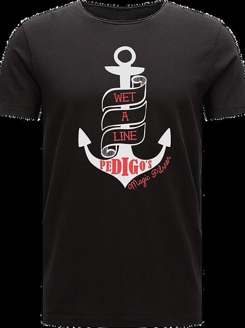 Wet a Line T Shirt - Black