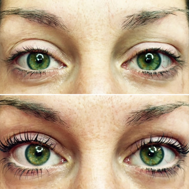 Lash Lift with Tint: Before & After