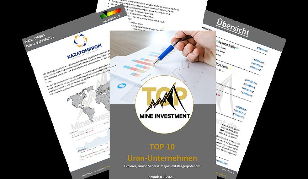 TOP 10 Uran Unternehmen
