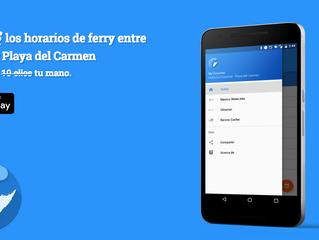 Nueva app con horarios de cruce a Cozumel.