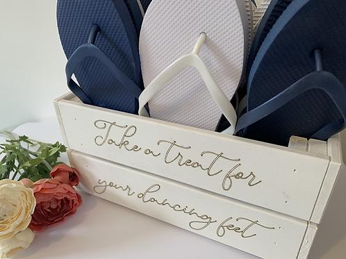 Wedding Flip Flop Crate