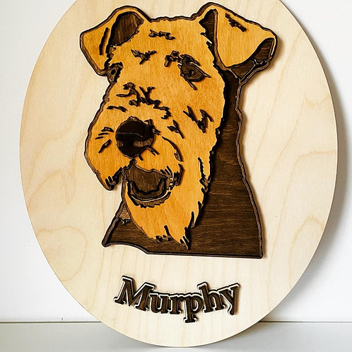Layered Welsh Terrier Plaque