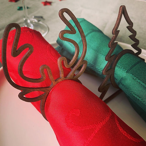 Christmas Napkin Ring Holders