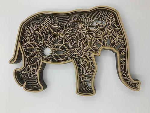 Layered Ornaments - Elephant