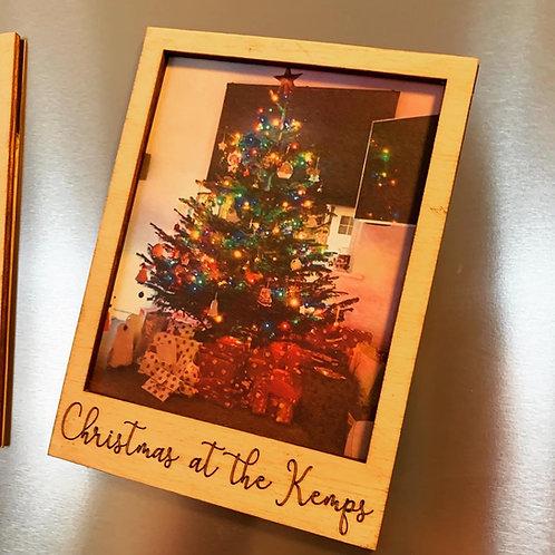 Set of 4 Christmas Magnetic Polaroid Frames
