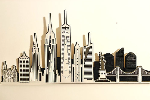 Layered NEW YORK Skyline