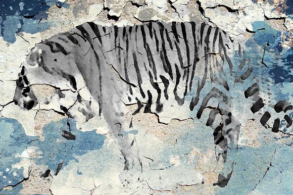 Siberian Tiger IV, Hand Embellished Canvas Giclee