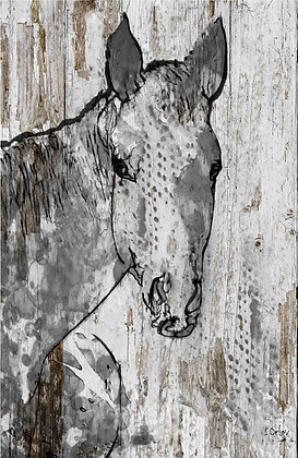 Beauty, Hand Embellished Canvas Giclee