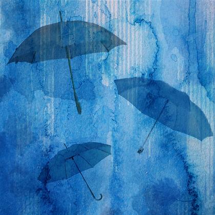 Rainy Day,  Embellished Canvas Giclee