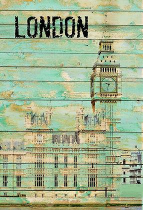 London, Hand Embellished Giclee