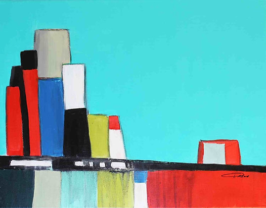 "16 x 20""  Abstract City by Irena Orlov"